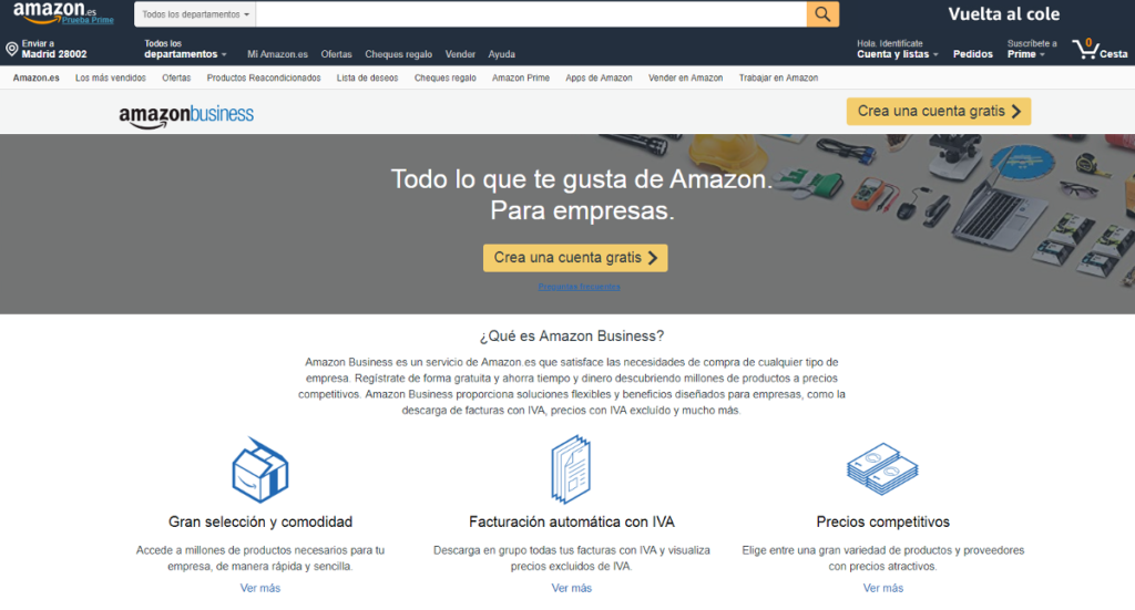 Amazon Business Home